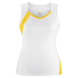 Women`s Wink Fashion Tennis Tank White and Gold