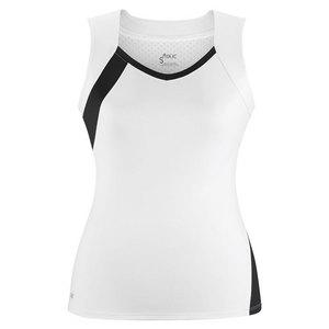 Women`s Wink Fashion Tennis Tank White and Black