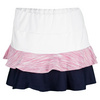 Women`s Desert Springs Doubles Tennis Skort White and Bouquet by TAIL