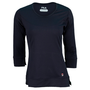 FILA WOMENS ESSENZA 3/4 SLV TENNIS TOP PCOAT