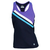FILA Women`s Center Court Racerback Tennis Tank Peacoat