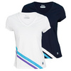 FILA Women`s Center Court Short Sleeve Tennis Top