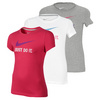 NIKE Girls` Just Do It Swoosh Short Sleeve Tee