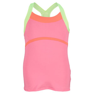 LUCKY IN LOVE GIRLS CREAMSICLE TENNIS CAMI PINK