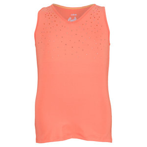LUCKY IN LOVE GIRLS BACK PLEAT TENNIS TANK ORANGE