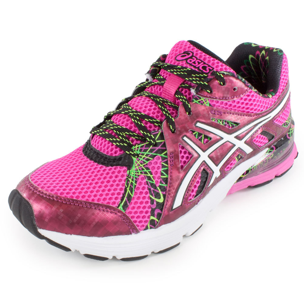 asics s gel preleus running shoes pink and white