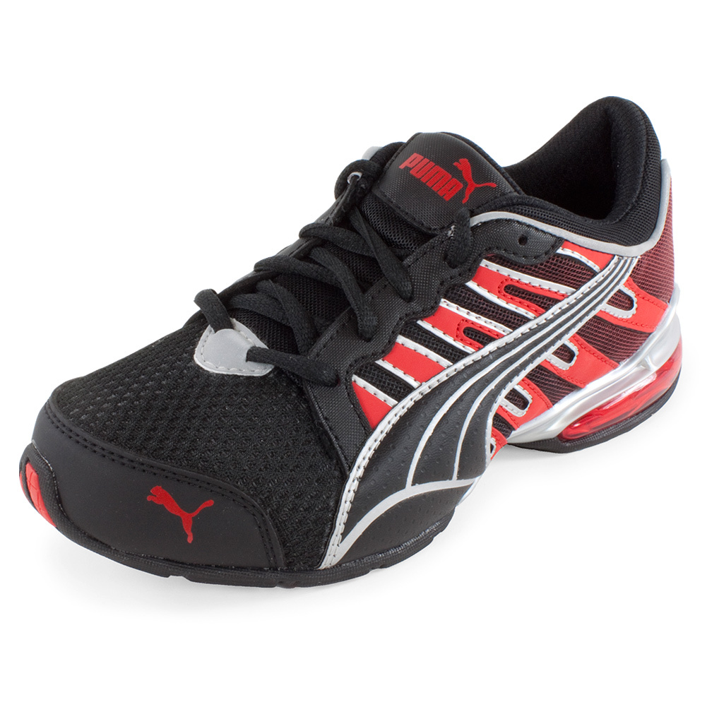 Junior's Voltaic 3 Fade Running Shoe Black And High Risk Red