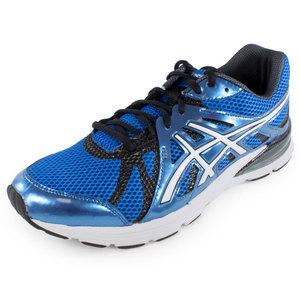 Men`s Gel Preleus Running Shoes Blue and White