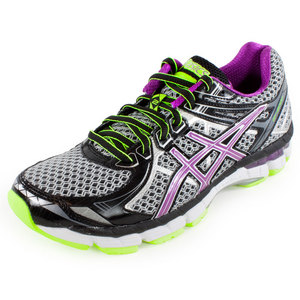 ASICS WOMENS GT 2000 2 RUNNING SHOES BK/ORCHID