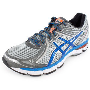 ASICS MENS GT 2000 2 RUN SHOES TITANIUM/BLUE