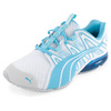 PUMA Women`s PowerTech Voltaic Clear Running Shoe White and Blue Atoll