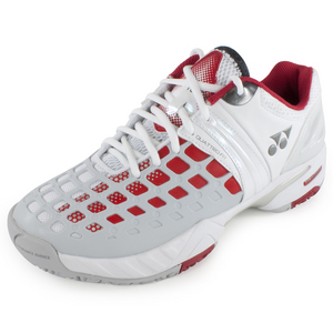 YONEX MENS POWER CUSHN PRO TNS SHOES WH/RD