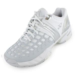 Women`s Power Cushion Pro Tennis Shoes White and Gray