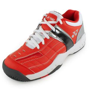 YONEX JUNIORS PWR CUSHN PRO TNS SHOES ORANGE