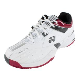 YONEX UNISEX POWER CUSHN LT TNNS SHOES WH/W RD