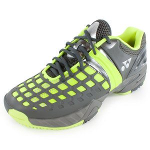 Men`s Power Cushion Pro Clay Tennis Shoes Yellow and Dark Gray