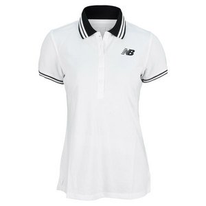 NEW BALANCE WOMENS SPEED TENNIS POLO WHITE