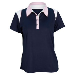 TAIL WOMENS DESERT SPR ACCENT POLO NAVY BLUE