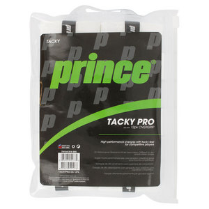 PRINCE TACKYPRO 12 PACK TENNIS OVERGRIP WHITE