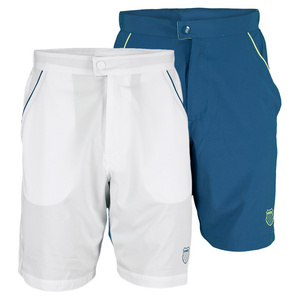K-SWISS MENS STRETCH STRIPE TENNIS SHORT II