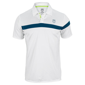 K-SWISS MENS BAND MS TENNIS POLO WHITE