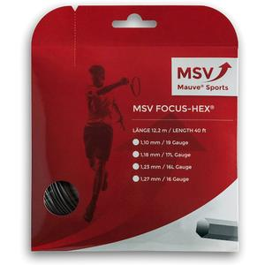 MAUVE SPORTS MSV FOCUS HEX 118 BLACK TENNIS STRING