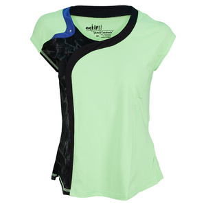 JAMIE SADOCK WOMENS CAP SLEEVE TENNIS TOP FIZZ
