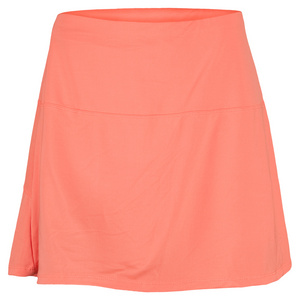 LUCKY IN LOVE WOMENS TUMMY CONTROL TENNIS SKIRT ORANGE