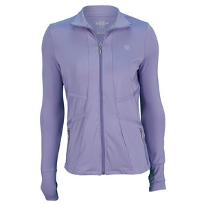 ELEVEN WOMENS ALL COURT ZIP TENNIS JACKET LILAC