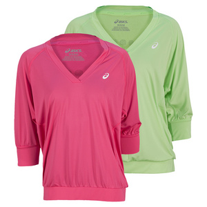 ASICS WOMENS 3/4 SLEEVE TENNIS TOP