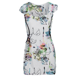 ELEVEN WOMENS MIXED DOUBLES DRESS FIORE PRINT