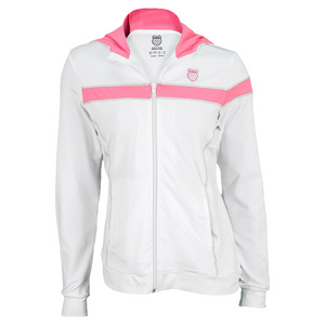 K-SWISS WOMENS BAND WS WARM UP JACKET WH/N RD