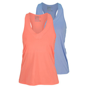 LUCKY IN LOVE WOMENS V NECK TENNIS TANK