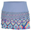 LUCKY IN LOVE Women`s Serape Scallop Tennis Skirt Print