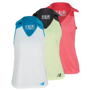NEW BALANCE WOMENS MONTAUK SLEEVELESS TENNIS POLO