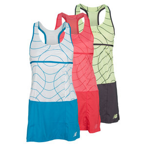 NEW BALANCE WOMENS PRINTED MONTAUK TENNIS DRESS