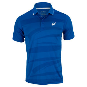 ASICS MENS GRAPHIC TENNIS POLO SPEED BLUE