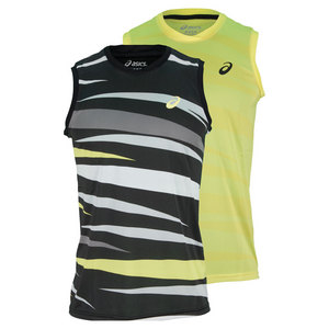 ASICS MENS GRAPHIC SLEEVELESS TENNIS TOP