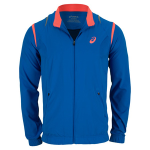 ASICS MENS RESOLUTION TENNIS JACKET SPEED BLUE