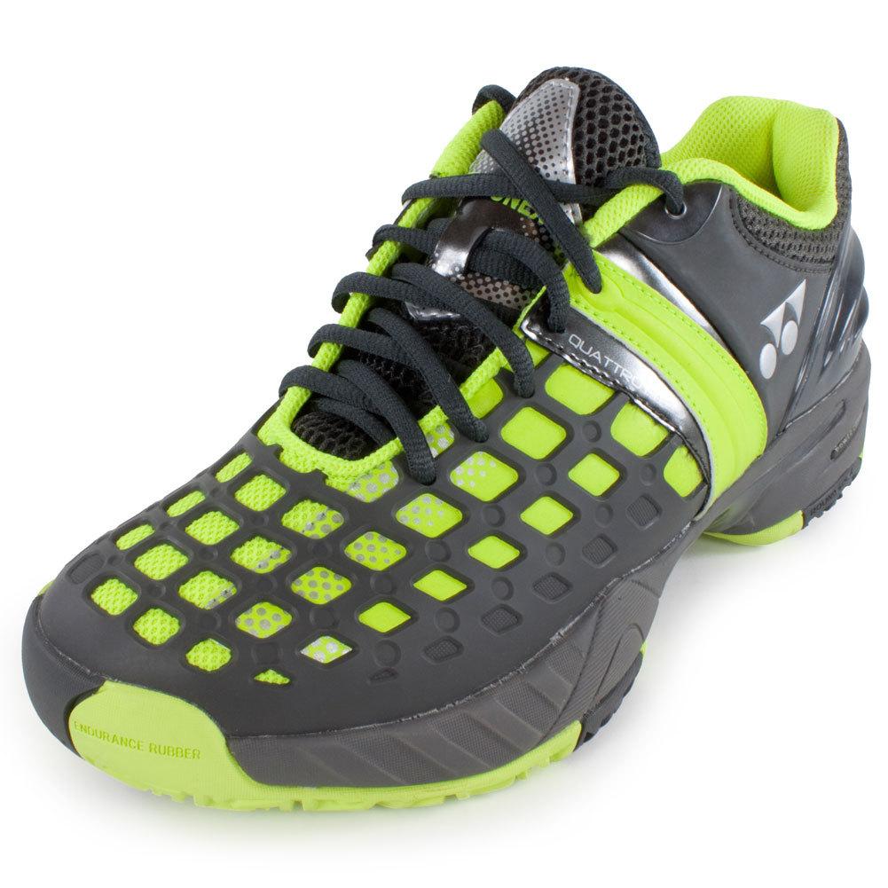 yonex s power cushion pro tennis shoes yellow and