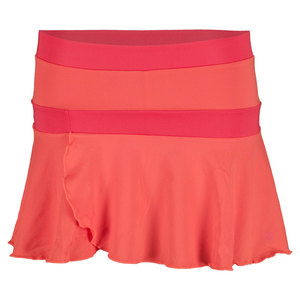 WILSON GIRLS SWEET SUCCESS TNS SKIRT CORAL/CHRY
