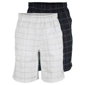 WILSON MENS RUSH PLAID 10 INCH TENNIS SHORT