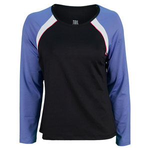 TAIL WOMENS ROYAL VIBE LS TENNIS TOP BLACK