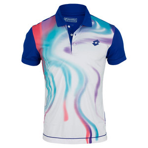 LOTTO MENS BLEND TENNIS POLO ROYAL/WHITE