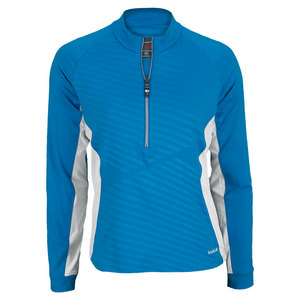 BOLLE WOMENS LONG SLEEVE TOP CURACAO BLUE