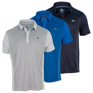 LACOSTE MENS ULTRA DRY TEXTURED TENNIS POLO
