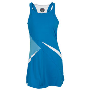 BOLLE WOMENS TENNIS DRESS CURACAO BLUE