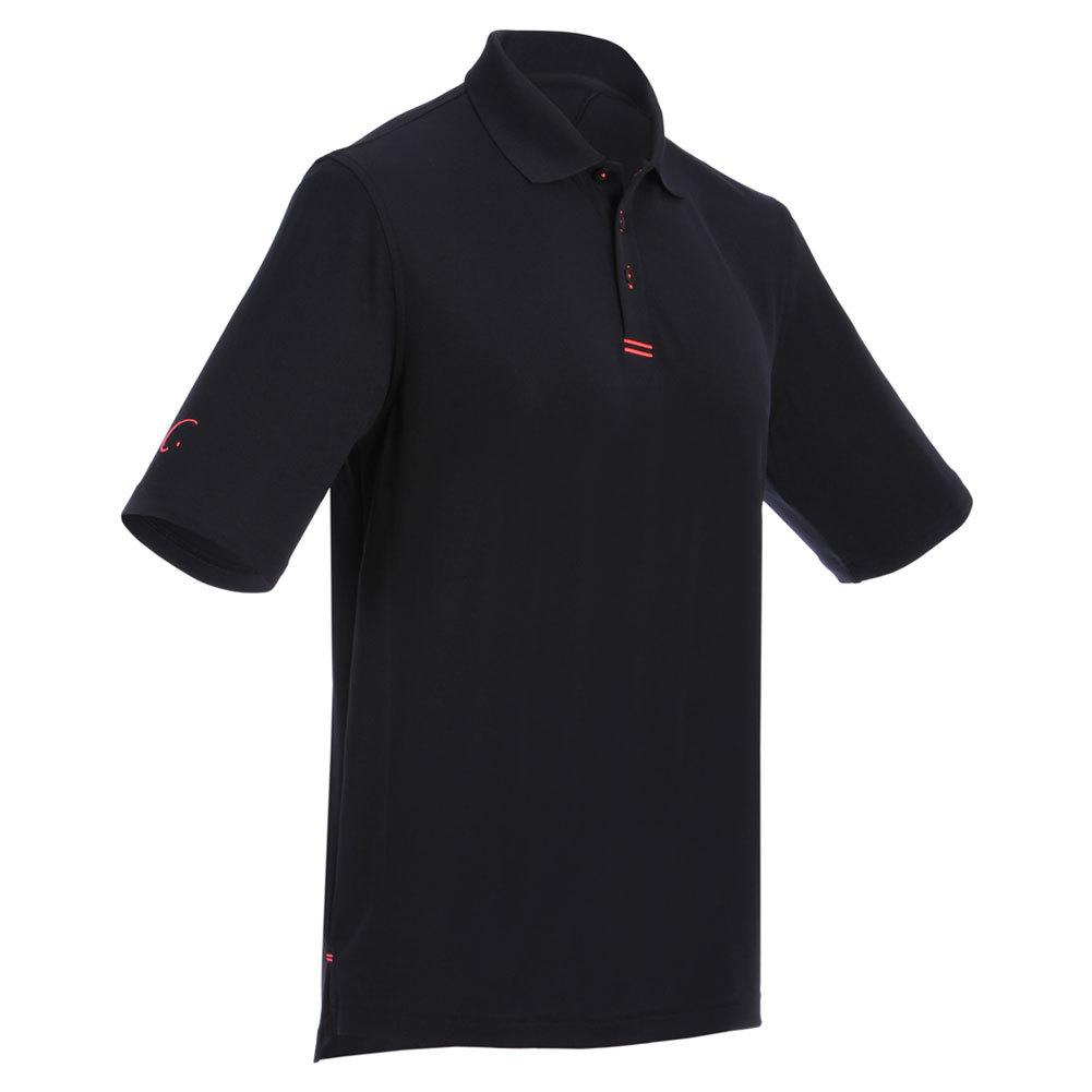 Men's Tennis Polo Black And Fuchsia