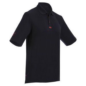 Men`s Tennis Polo Black and Fuchsia