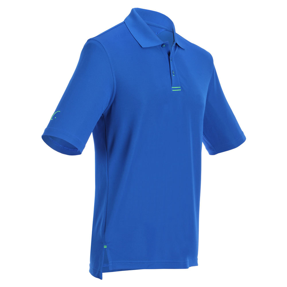 Men's Tennis Polo Royal Blue And Lime Green